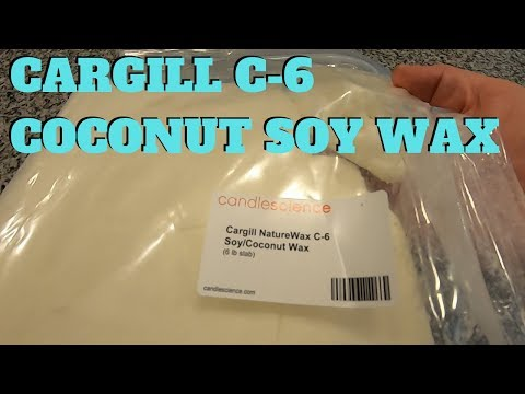 First thoughts on Cargill C-6 Coconut Soy wax from Candle Science