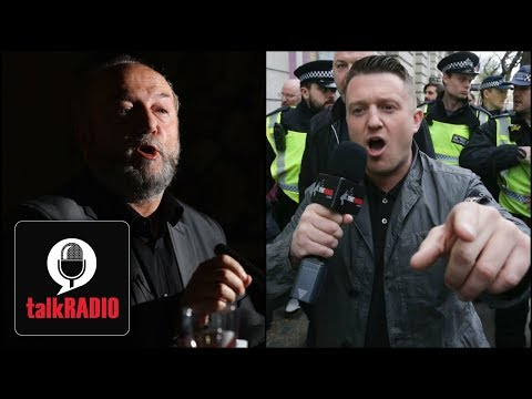 George Galloway clashes with Tommy Robinson