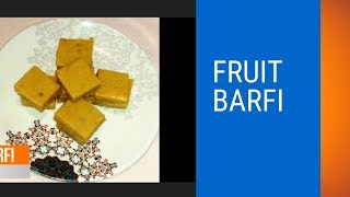 #Fruit barfi recipe | energy bar recipe #home made sweet ABC (Apple, Banana, Custard) Halwa