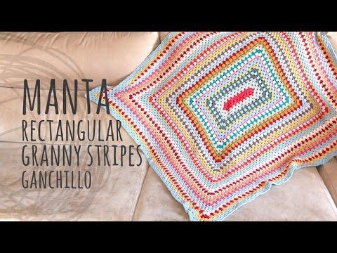 Tutorial Manta Muy Fácil y Rápida Ganchillo   Crochet - YouTube