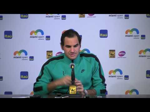 Roger Federer Semi-final Press Conference Miami Open