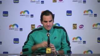 Roger Federer Semi-final Press Conference Miami Open