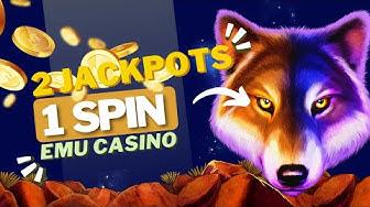 Wolf Treasure 2 Jackpots In 1 Spin Big Win Emu Casino