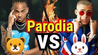 Lo mejor de bad bunny ft ozuna - (Parodia) te bote remix, dura daddy yankee, el farsante