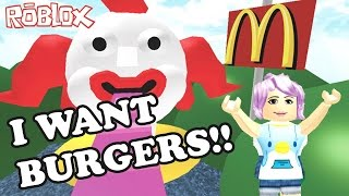 Roblox / I WANT BURGERS!! / Escape the McDonalds Obby / GamingwithPawesomeTV