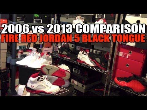 5536ed32e3431c 2006 vs 2013 Air Jordan Fire Red