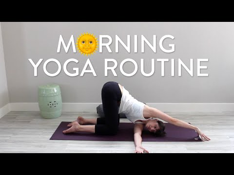 Morning Yoga and Meditation Routine for Self-Love - YouTube