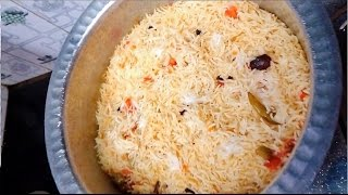 Chicken ( stock) flavoured rice || Dum cooked