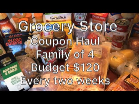 Grocery Coupon Haul and meal plan 2 weeks worth of groceries family of 4
