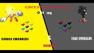 CCS RPG ALL CHAOS AND DARK EMERALDS LOCATIONS [ROBLOX]