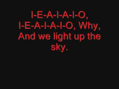 System of a Down - I-E-A-I-A-I-O Lyrics
