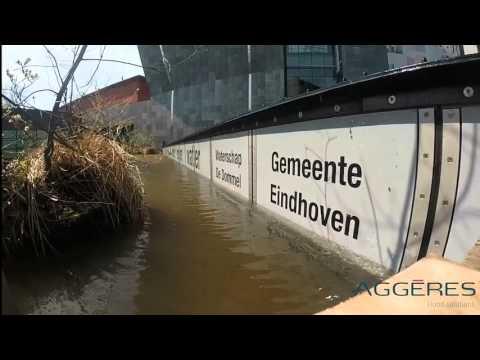 Automatische waterkering van 33 meter aan Van Abbemuseum - test