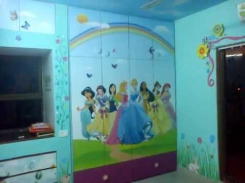 Bedroom Furniture Mumbai princess themes bedroom furniture & wall painting / kids furniture