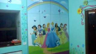 Princess Themes Bedroom Furniture & Wall Painting / Kids Furniture Mumbai