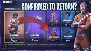 'NOUVEAU' Fortnite CHRISTMAS SKINS RETURNING! - Joyeux Maraudeur et Ginger Gunner (Fortnite)