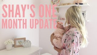 Hi guys! Today's video is Shay's one month update. I'm so sorry it'...