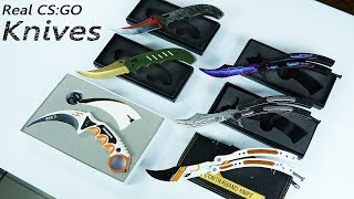 Unboxing The Best Real CS:GO Knives - I wish I have these on my CS:GO Inventory