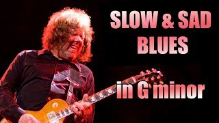 Gm Slow & Sad Blues Guitar Backing Track