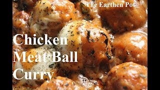 CHICKEN CHEESE MEAT BALL CURRY RECIPE|  How to cook Meat Ball Curry | চিকেন চীজ বল  কারি