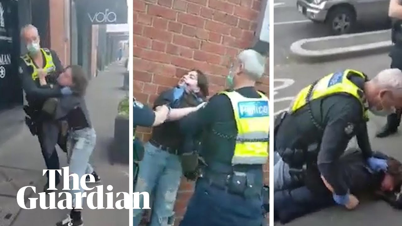 Victoria police officer filmed allegedly choking and pinning woman to the ground