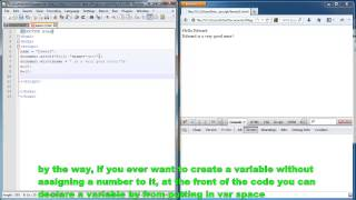 Javascript lesson 2 - variables, appending strings, adding numbers