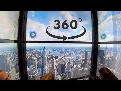 Spectacular Elevator One World Observatory   NYC   360/VR 4K