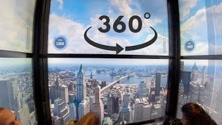 Spectacular Elevator One World Observatory | NYC | 360/VR 4K