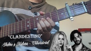 como tocar clandestino shakira y maluma en guitarra tutorial con acordes tocateuna