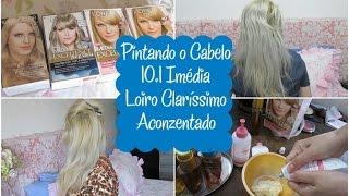 pintando o cabelo loiro clarssimo acinzentado 10 1 imdia excellence loreal   vedo 22