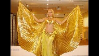 урок восточного танца с крыльями исиды, интимный фитнес и танец живота - Анна Корбан
