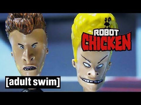 Robot Chicken | Beavis And Butt-head Reunited | Adult Swim UK 🇬🇧