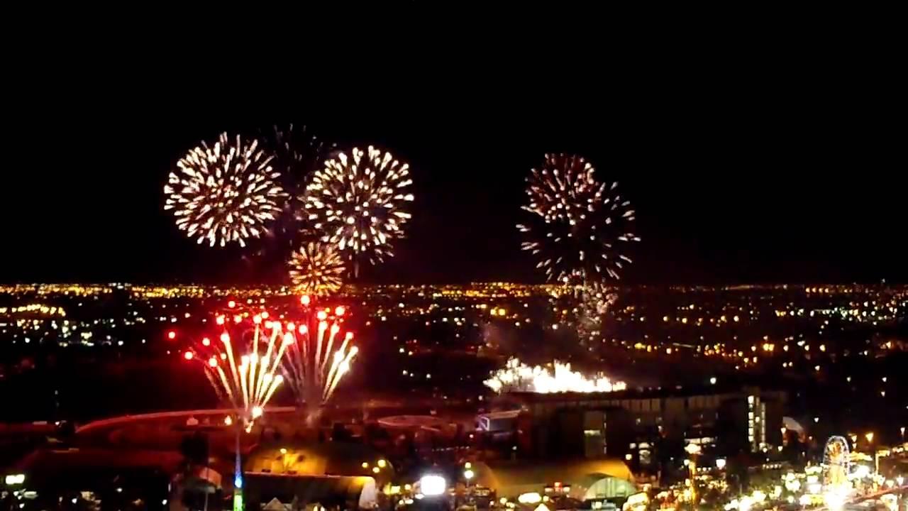 Calgary Stampede Fireworks July 10 2010 Youtube
