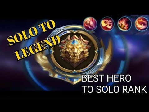 BEST HERO TO REACH LEGEND | SOLO RANK | MOBILE LEGENDS + FUNNY MOMENTS