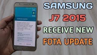 Samsung Galaxy J7 2015 Receive New Fota Update