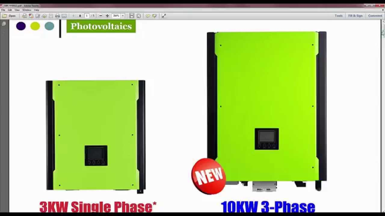 MPI 10KW HYBRID Grid Tie With Battery Backup - YouTube