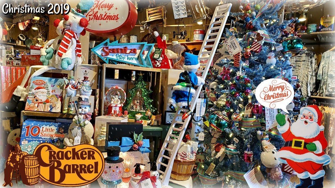 Cracker Barrel 2019 Christmas Decorations Shop With Me