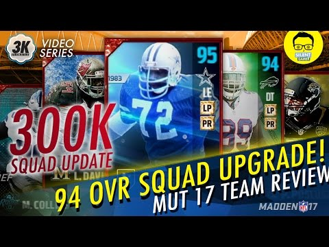 "300K Madden 17 Squad Upgrade! - Ed ""Too Tall"" Jones Legend, TOTW, All-Rookie Team - ""Squad Builder"""