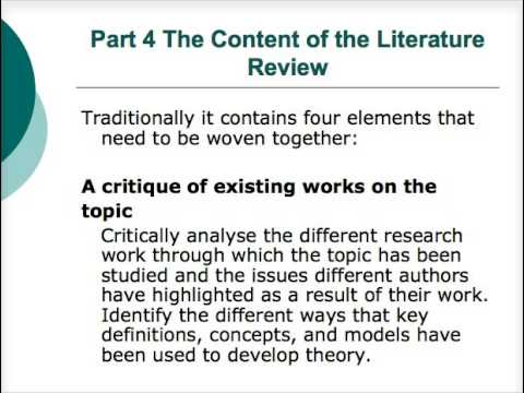 Writing a dissertation   the literature review