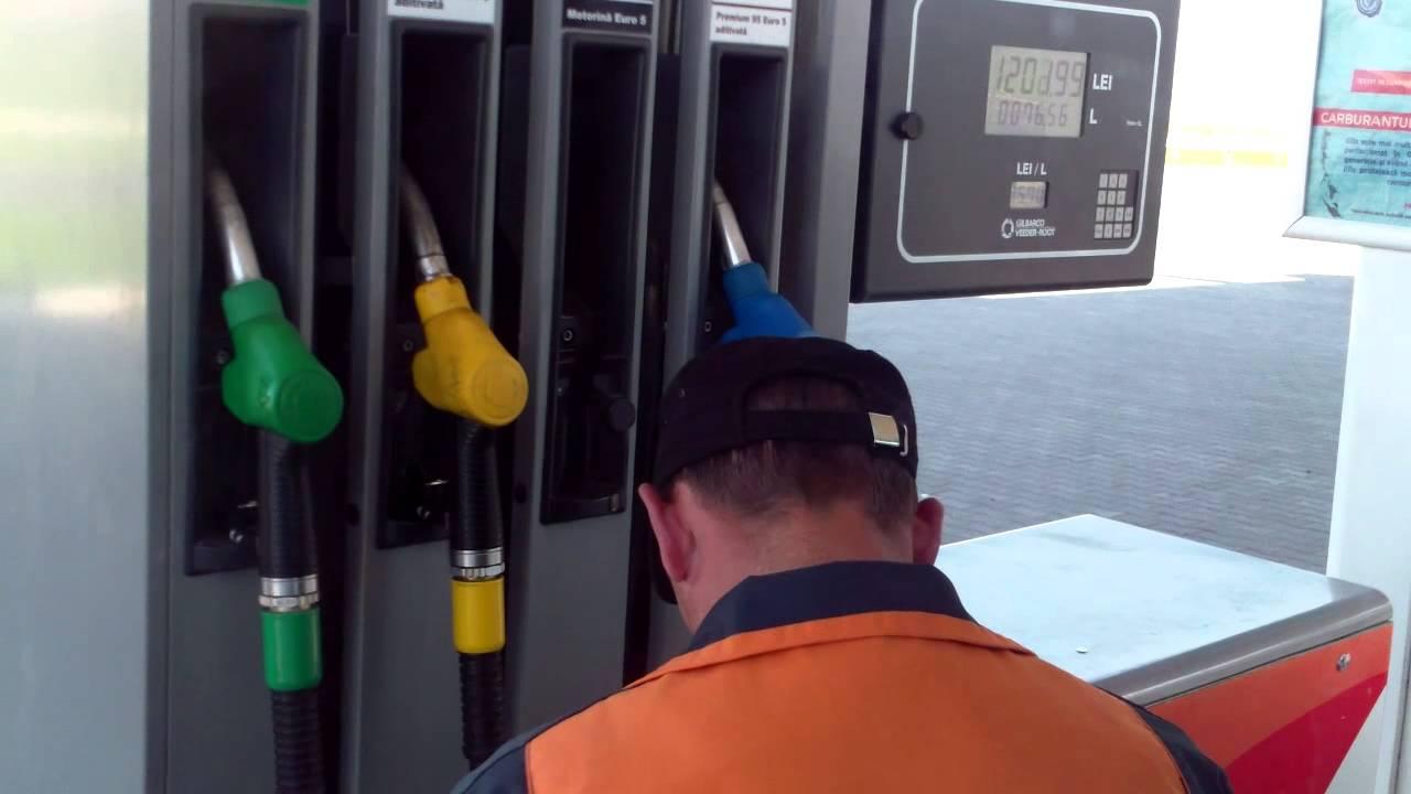 La #RomPetrol #Leuseni toarna motorina in canistra