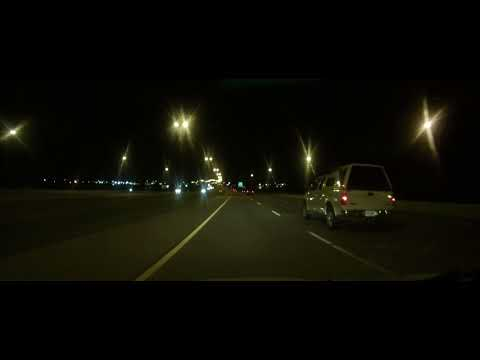 Driving around Sioux Falls, South Dakota at night