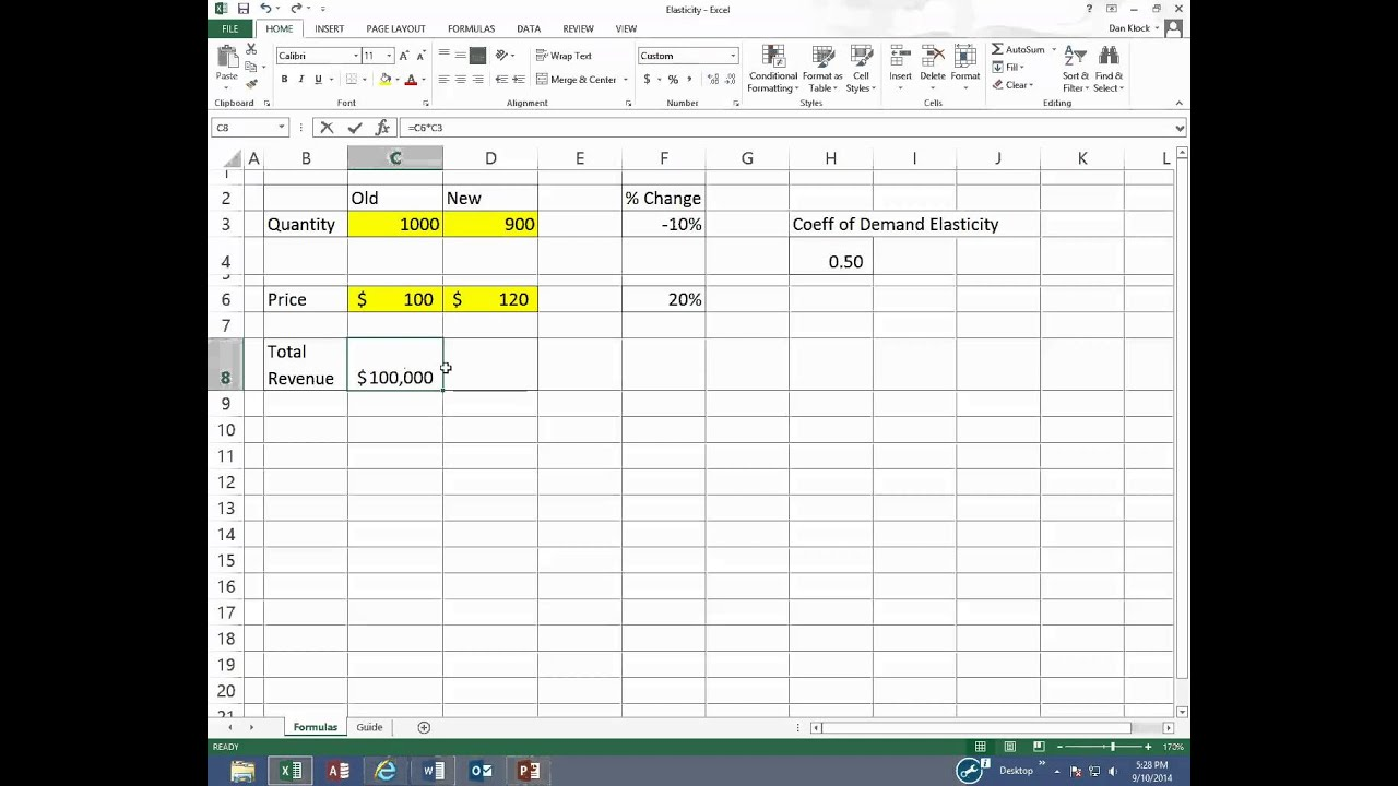 Elasticity Video In Excel Youtube