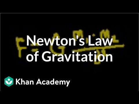 Introduction to Newton's law of gravitation   Physics   Khan Academy