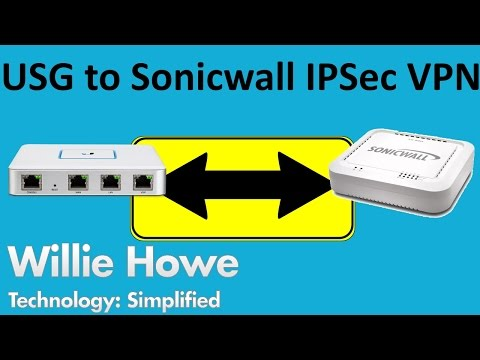 UniFi USG to Sonicwall IPSec VPN