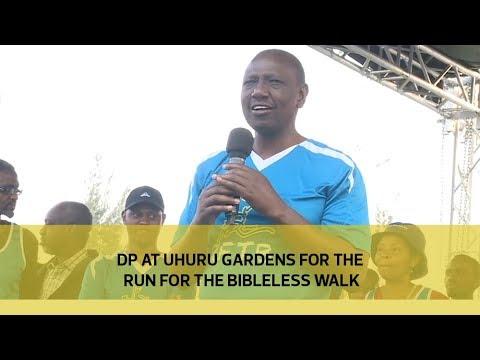 DP at Uhuru Gardens during the Run for the Bibleless walk