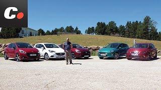 Ford Fiesta 2017 vs Seat Ibiza Renault Clio Opel Corsa Peugeot 208   Prueba Comparativa   Coches.net