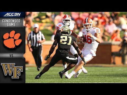 Clemson vs. Wake Forest Condensed Game | 2018 ACC Football