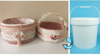 Plastik Kovadan Sepet Yapımı / HAVLULUK YAPIMI / HOW TO MAKE A BASKET FROM PLASTİC