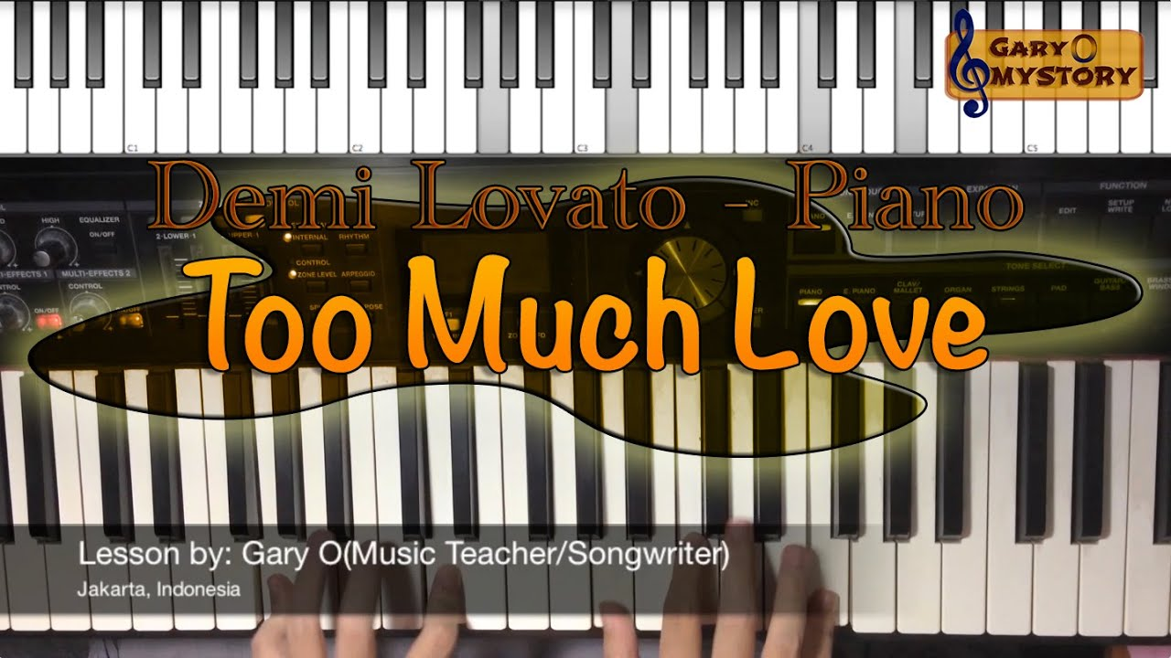 Demi lovato too much love song cover easy piano tutorial demi lovato too much love song cover easy piano tutorialkeyboard lesson free sheet music new 2016 hexwebz Images