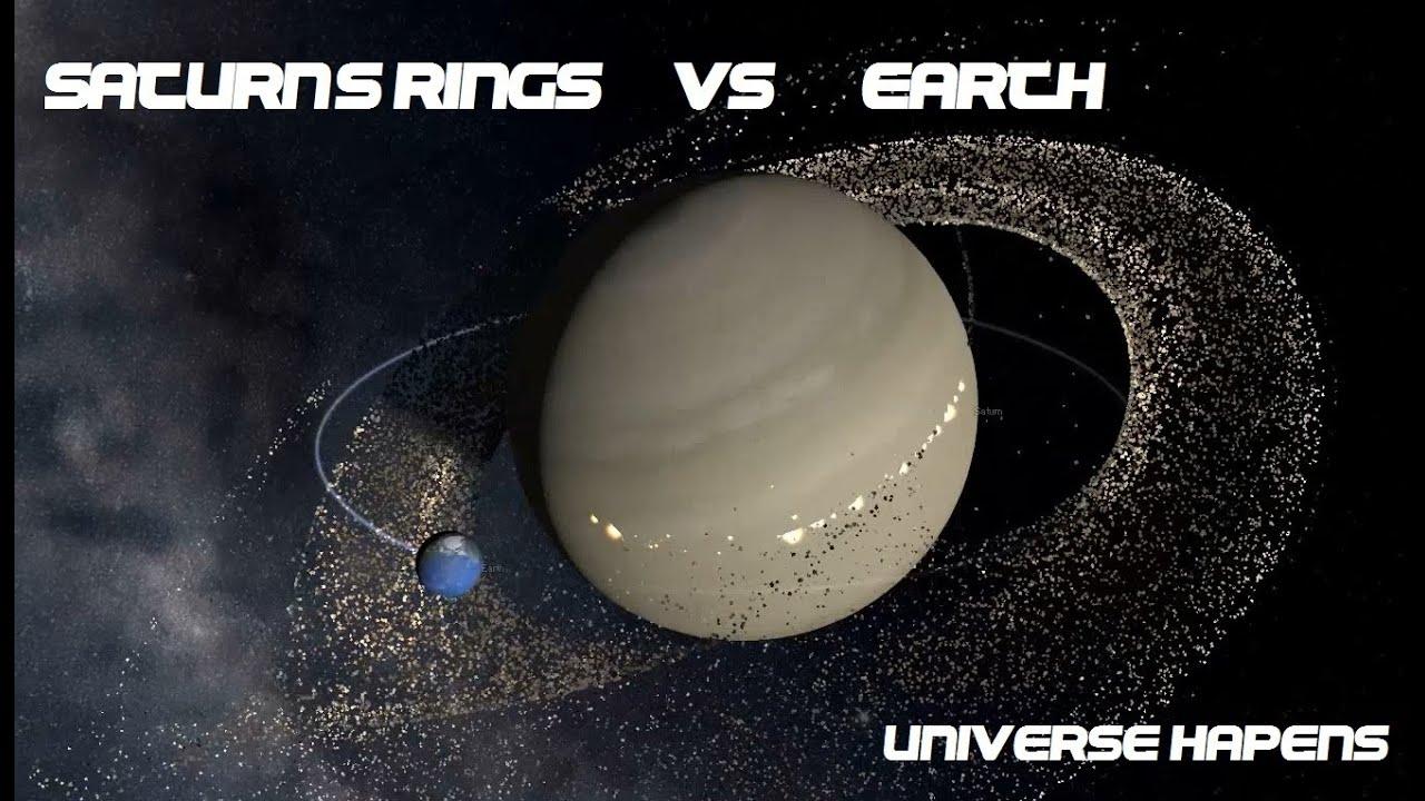 Saturn's Rings vs Earth (SIMULATION) - YouTube