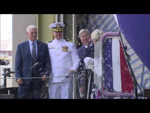 Virginia-Class Submarine Indiana Christened at Newport News Shipbuilding